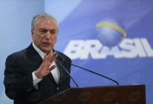 Brasília - O presidente da República, Michel Temer, durante pronunciamento oficial, disse que vai pedir ao STF, a suspensão de inquérito até que gravação seja periciada (José Cruz/Agência Brasil)