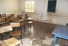 sala de aula destruída